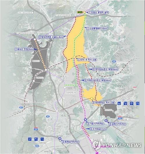 남양주 3기 신도시 예정지 표준지공시지가 19.4%↑
