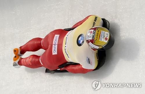 윤성빈, 스켈레톤 월드컵 7차 대회서 동메달…랭킹 2위로 하락