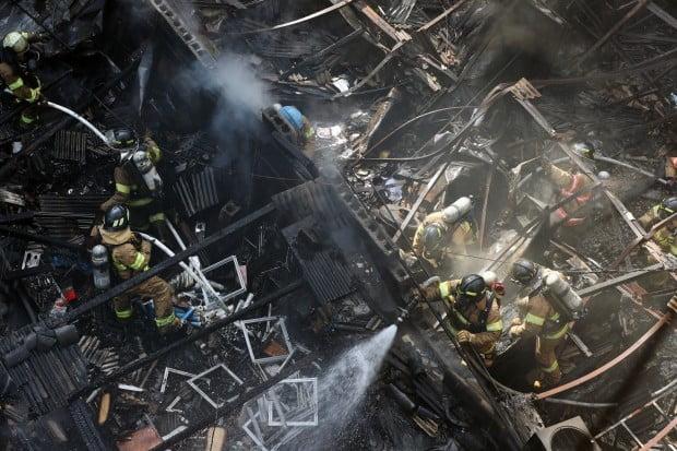 을지로 화재 현장 /사진=연합뉴스