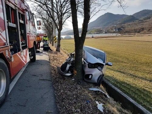 구례서 승용차가 가로수 들이받아 2명 사망·3명 부상(사진=연합뉴스)