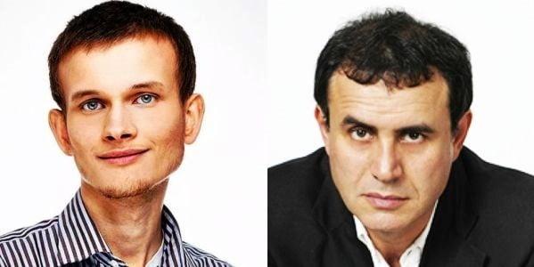 비탈릭 부테린 이더리움 창시자(왼쪽)와 누리엘 루비니 뉴욕대 교수. / 출처=디코노미