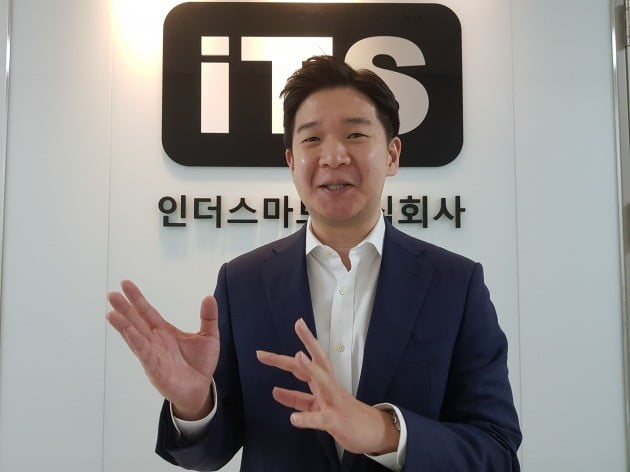 이충희 인더스마트 대표가 회사의 해외 진출 계획에 대해 설명하고 있다. 양병훈 기자