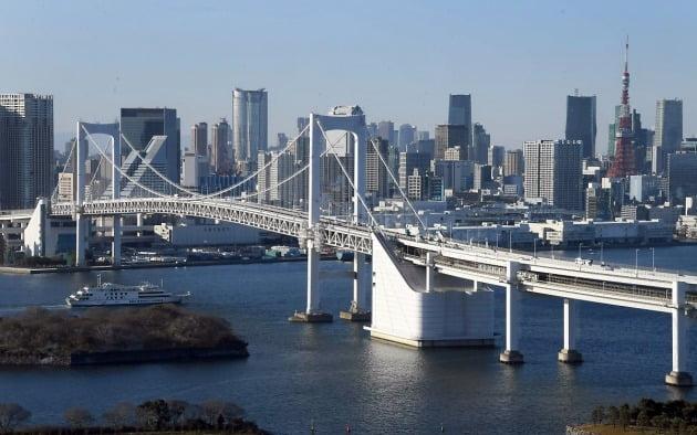 일본 도쿄 레인보우브리지. 한경DB