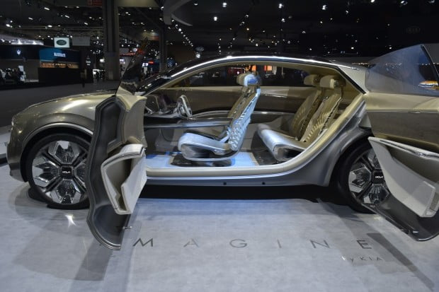 기아차는 전기차 콘셉트카 '이매진 바이 기아(Imagine by KIA)'를 아시아 최초로 공개했다 / 사진 = 정현영 기자
