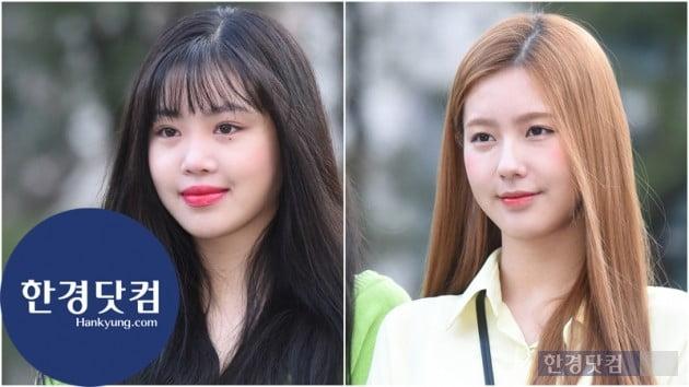[HK영상] (여자)아이들 수진, 미연, 이른 아침부터 사랑스러워…'예쁘네~' (세로직캠)