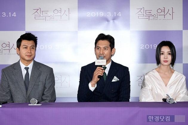 [포토] 김승현-오지호-남규리, '질투의 역사 주역들'