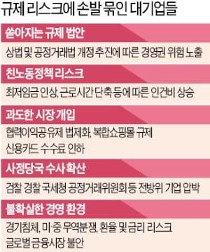 """거미줄 규제에 경영간섭·수사까지…기업들 """"손발 다 묶어놓고 뛰라니…"""""""
