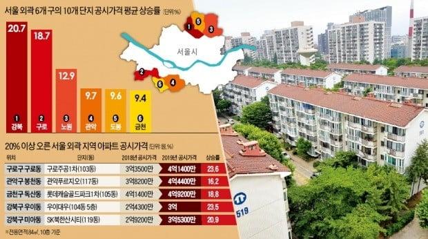 노·도·강 중저가 아파트도 공시가격 급등 단지 '속출'