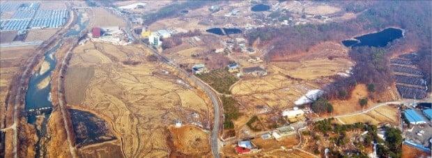 SK하이닉스 반도체클러스터 조성 예정지인 경기 용인시 원삼면 일대.  /용인시 제공