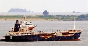 북한의 석유류 불법환적에 관여한 것으로 의심되는 한국 선적 '루니스(LUNIS)'.  /선박 정보 사이트 '베셀 파인더' 캡처