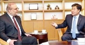 김형 사장, 카타르 청장과 간담회