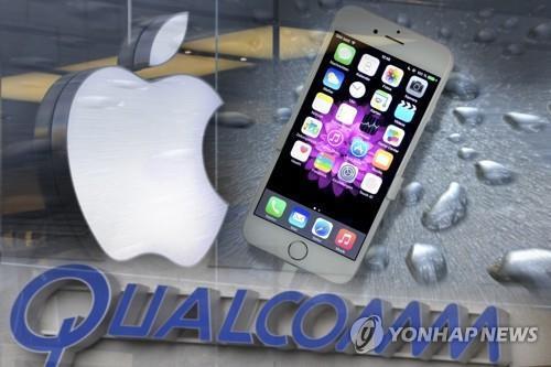 """美 무역위 """"애플이 퀄컴 특허 침해""""…일부 아이폰 수입금지 권고"""