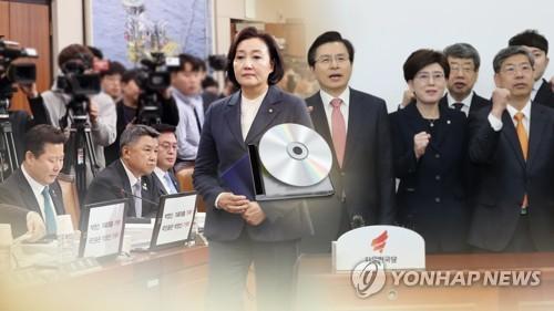 """한국, '김학의CD' 박영선에 """"허구·조작·거짓말""""…황교안 엄호"""