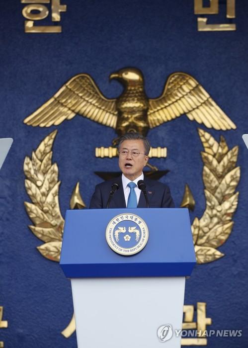 """文대통령 """"한결같이 평화 추구하면 반드시 한반도 비핵화 될 것"""""""