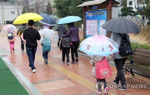 전국 대부분 지역 눈·비…중서부 미세먼지 '나쁨'