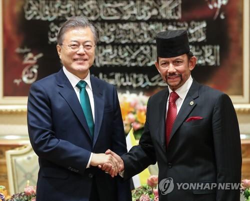 文대통령, 브루나이 일정 마무리…말레이시아 향발