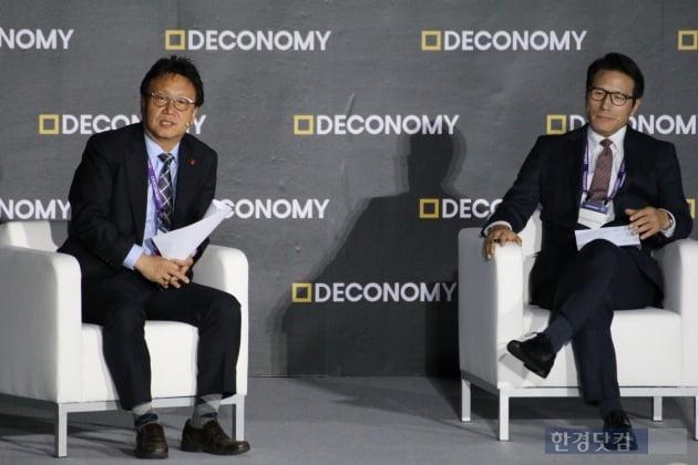 (왼쪽부터)민병두 국회 정무위원장, 정병국 국회 4차산업특별위원회 위원장(사진=오세성기자)
