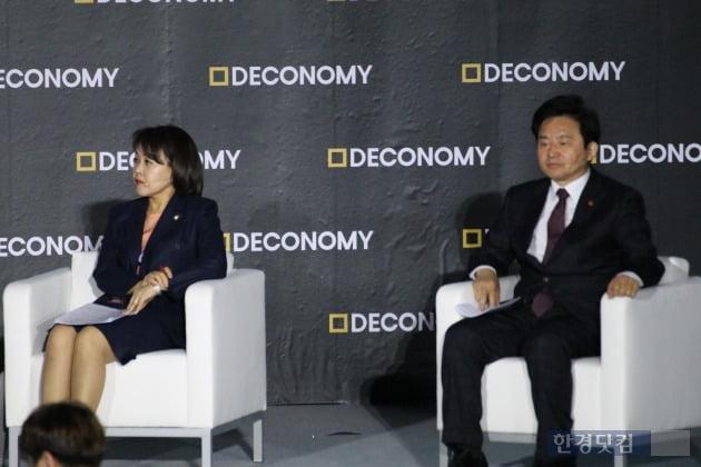 (왼쪽부터)송희경 국회 4차산업혁명포럼 공동대표, 원희룡 제주도지사(사진=오세성 기자)