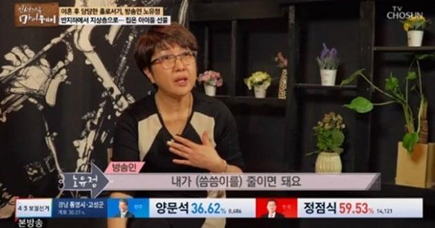 방송인 노유정/사진=TV조선 '마이웨이' 방송화면 캡처