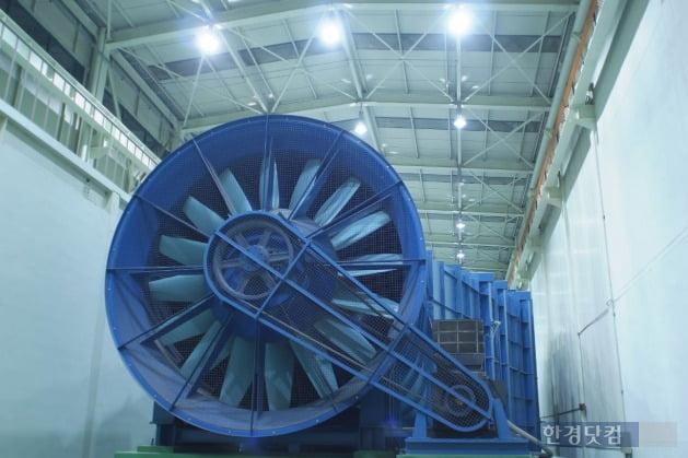 '현대건설 R&D 센터'의 풍동실험실.