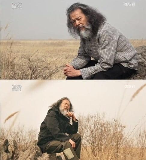 시니어 모델 김칠두 씨. '인간극장' 캡처