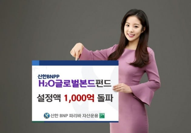 신한BNP파리바자산운용, 'H2O글로벌본드펀드' 설정액 1000억원 돌파