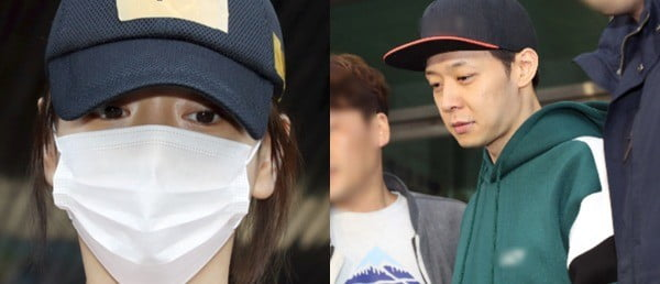 마약 공범 진실공방을 벌이고 있는 황하나 박유천 (사진 연합뉴스)
