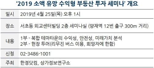 [한경부동산] 25일, 수익형 부동산 투자 무료 세미나