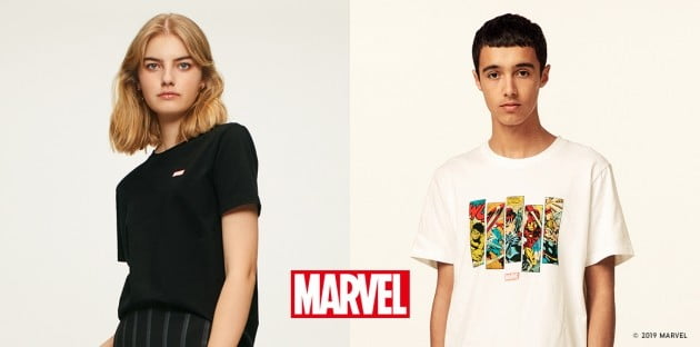 '어벤져스 엔드게임' 개봉을 앞두고 패션 브랜드 지유(GU)가 9900원으로 즐길 수 있는 마블(MARVEL) 그래픽 티셔츠를 출시했다.