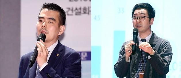 (왼쪽부터) 이상우 유진투자증권 연구위원과 채상욱 하나금융투자 연구위원. /변성현 한경닷컴 기자 byun84@hankyung.com