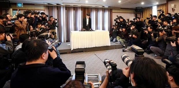 박유천, 황하나 지목 연예인 A씨 의혹에 기자회견 개최 /사진=최혁 기자