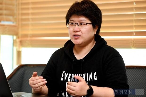 한경닷컴과 인터뷰하는 제이드 장 믹스마블 CEO. / 사진=최혁 기자
