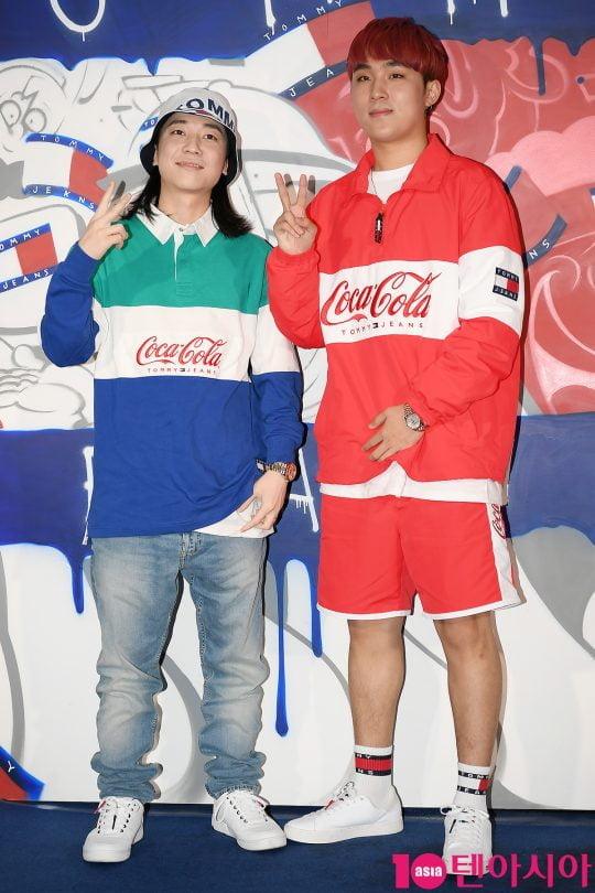 가수 넉살(왼쪽), 이로한
