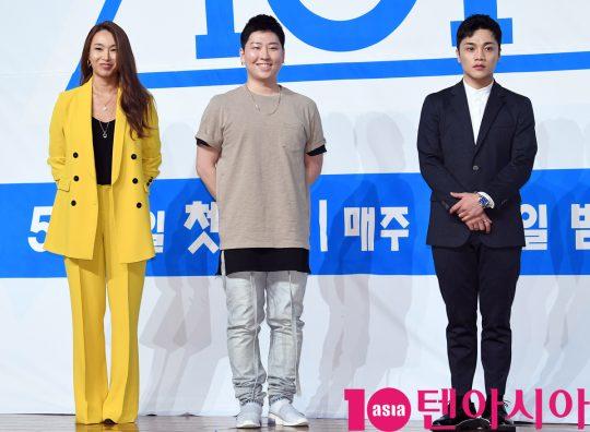 [TEN PHOTO]배윤정-권재승-최영준 '프듀101 댄스트레이너'