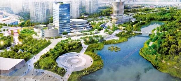 서울 올림픽공원 청사진 조감도