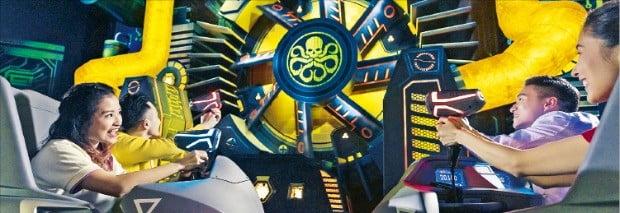 홍콩 디즈니랜드가 올해 3월 선보인 새로운 어트랙션 '앤트맨과 와스프'  홍콩  디즈니랜드  제공