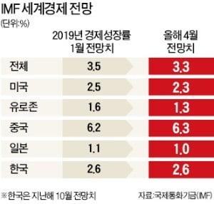 """세계 경제 '3대 리스크' 직면…IMF·세계銀 """"무역긴장 완화"""" 촉구"""