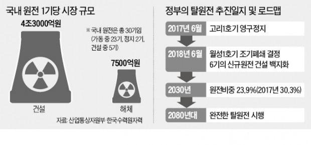 """원전해체가 미래 먹거리?…""""시장 규모 2兆 불과"""""""