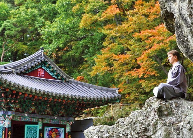 불교 전통 수행법 중 하나인 선무도를 체험할 수 있는 경북 경주의 골굴사.