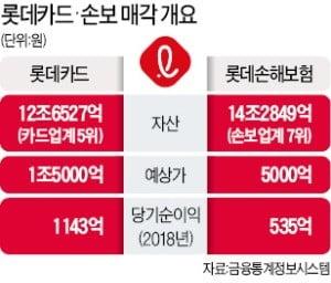 '몸값 1.5兆' 롯데카드 인수전…하나금융·MBK·한앤컴퍼니 3파전