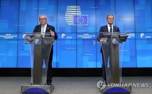 """'브렉시트 시한연장' EU 투스크 """"英 남은 6개월 허비 말라"""""""