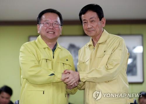 """진영 """"강원산불, 한전에 책임있을것…이재민 실질적 지원"""""""