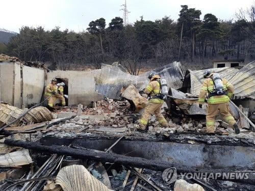 [강원산불] 주택 285채 피해 확인…소방·군 진화인력 철수