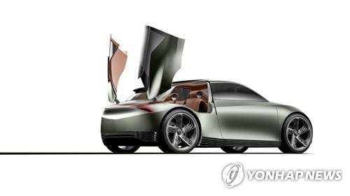 """제네시스 전기차 콘셉트카 '민트' 공개…""""씨티카 지향"""""""
