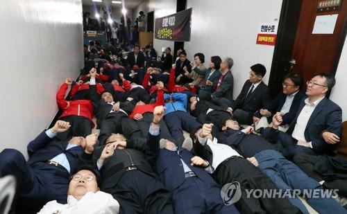 국회 정개특위, 한국당 항의 속 선거법 패스트트랙 지정