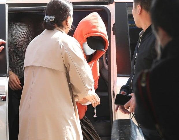 경기 남부지방 경찰청으로 압송된 황하나 (사진=연합뉴스)