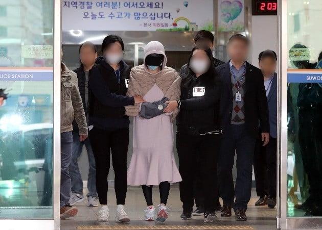영장실질심사에서 연예인 지인 A 씨로부터 마약을 권유받았다고 진술한 황하나 씨/사진=연합뉴스