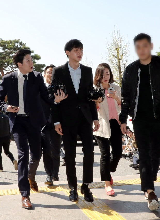 '마약 혐의' 박유천, 경찰 출석 /사진=연합뉴스