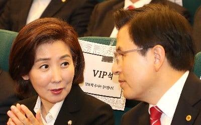 자유한국당 황교안 대표(오른쪽)와 나경원 원내대표. / 사진=연합뉴스