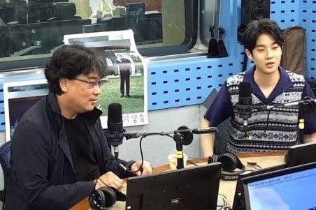 '기생충' 봉준호 감독, 최우식/사진=SBS 파워FM '최화정워 파워타임' 영상 캡처